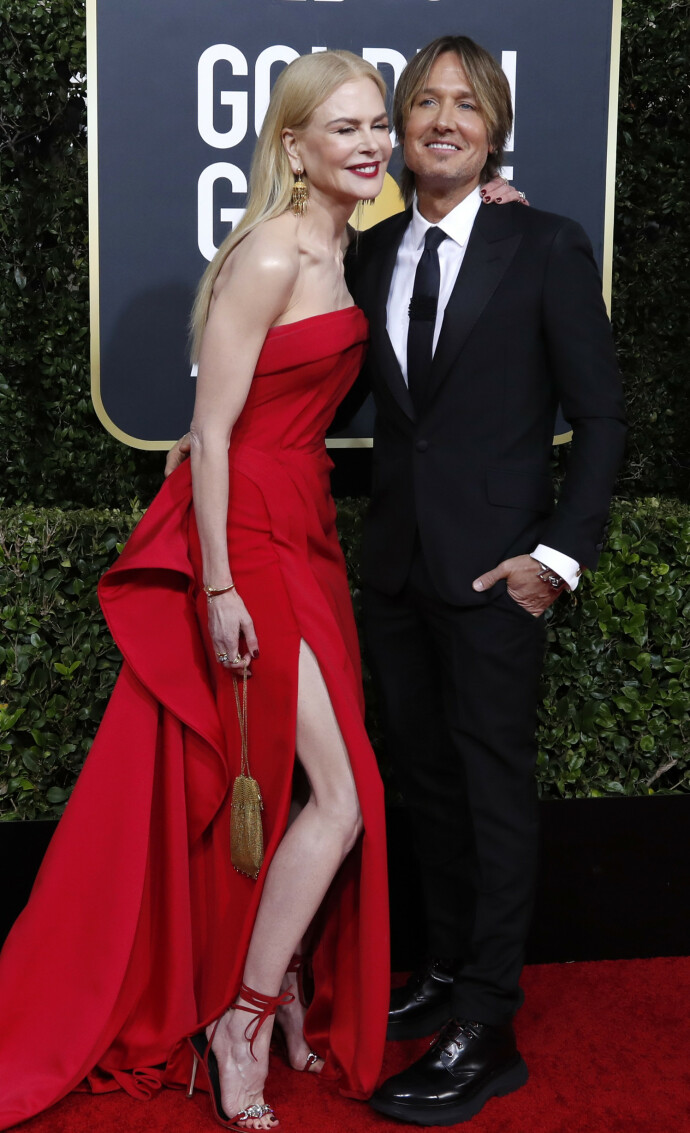 FJORÅRETS FEST: Nicole Kidman og mannen Keith Urban under Golden Globe Awards i 2020. FOTO: NTB