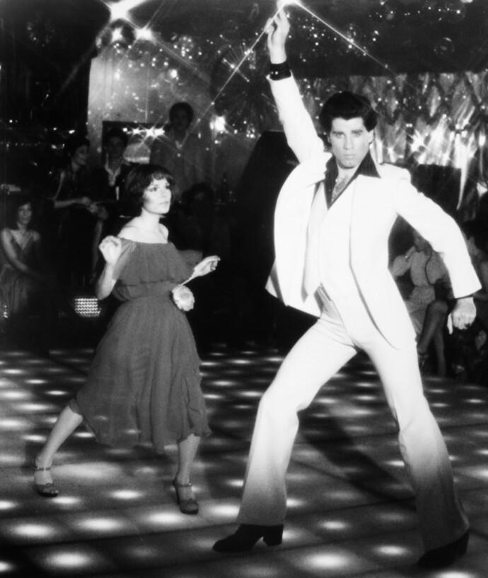 NIGHT FEVER, NIGHT FEVER ...: John Travolta som Tony Manero i «Saturday Night Fever» i 1977. Her med dansepartneren sin Karen Lynn Gorney. FOTO: NTB