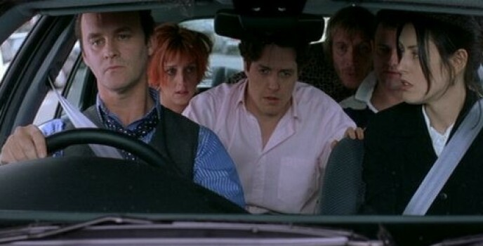 1999: Tim McInnerny (t.v.) sammen med flere av de andre Notting Hill-stjernene. Foto: NTB