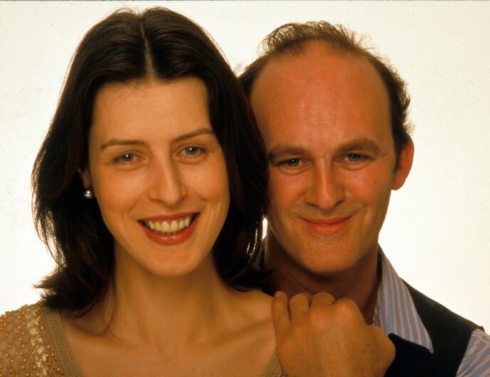 1999: Gina McKee (t.v.) og Tim McInnerny (t.h.) i Notting Hill. Foto: NTB
