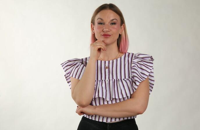 POSITIVT: Influenser Christina Fraas mener all mens-synlighet er bra for å normalisere mensen. FOTO: Kristine Slyngstad