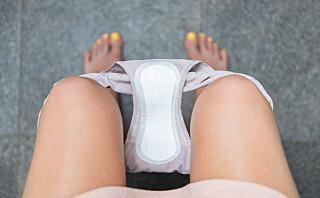 - Bra at en kraftig menstruasjonsblødning vises på tv