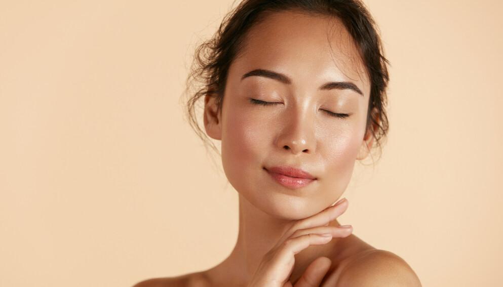HUDPLEIETREND: Det er ikke nok å kalle det glødende hud lenger, nå er det «glass-hud» som gjelder. Foto: NTB