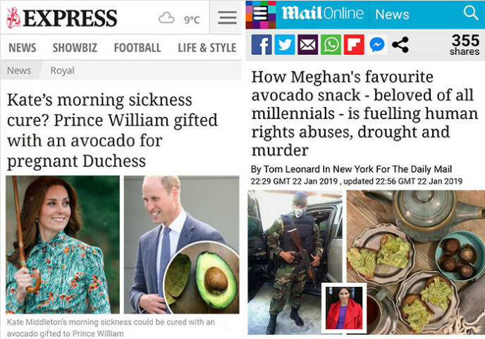 FAKSIMILE: Express og Daily Mail