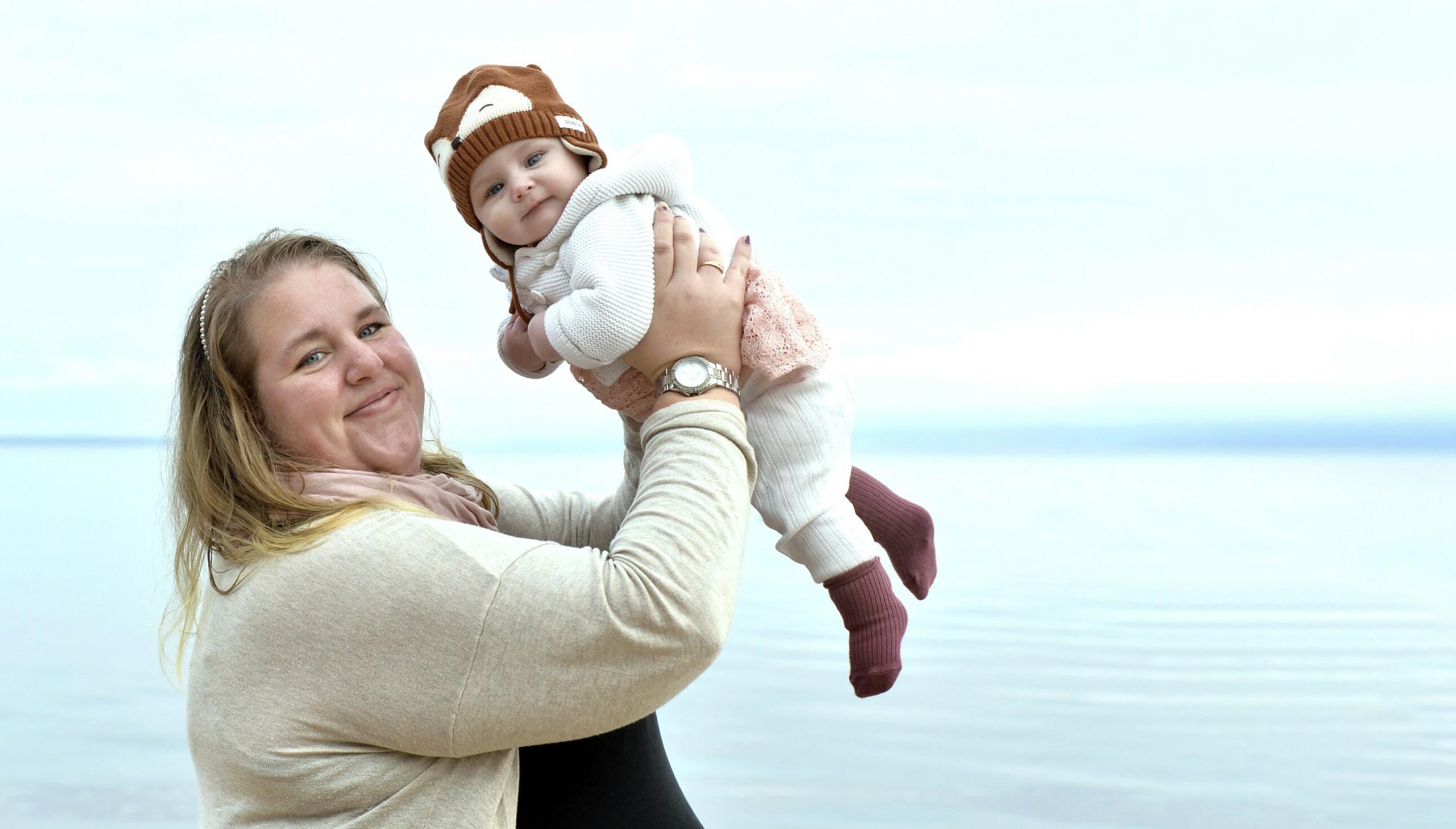 BABYLYKKE: Plutselig kom Stella! Ida fikk knapt fordøyd at hun var gravid før barnet kom til verden. FOTO: Kai Rehn