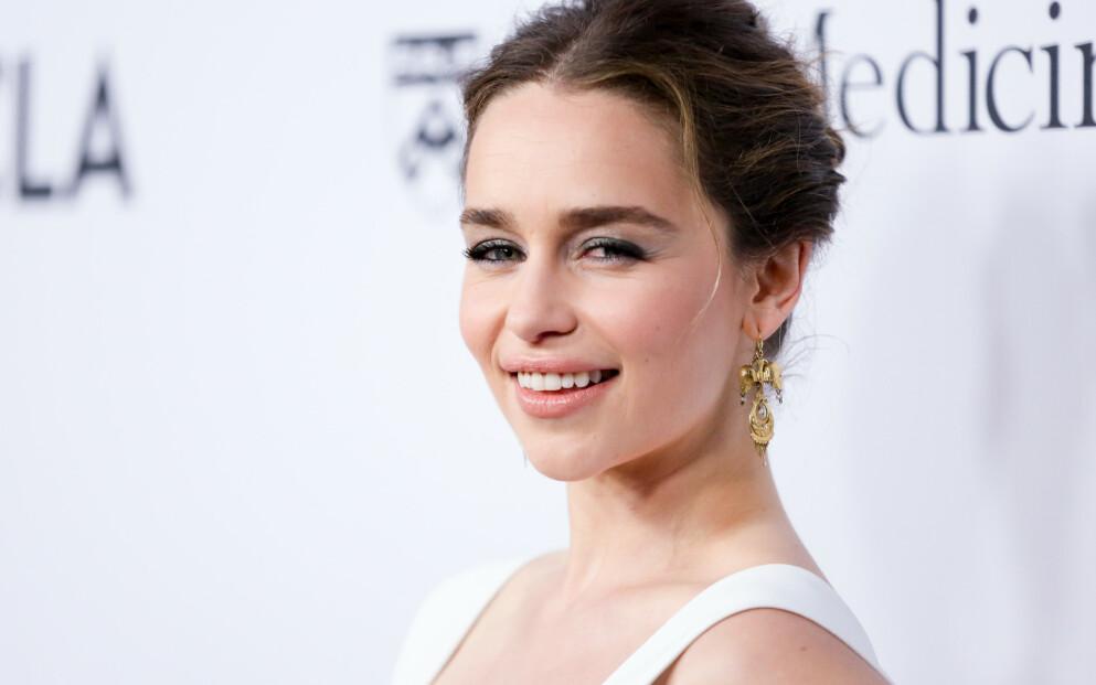 STÅR IMOT PRESSET: For skuespiller Emilia Clarke er mimikken i ansiktet – og dermed rynkene som følger med – helt avgjørende for å levere best mulig på jobb. FOTO: NTB
