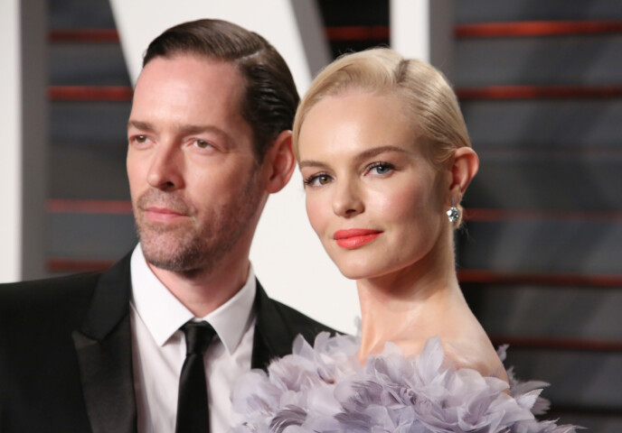 EKTEMANNEN: Michael Polish og Kate Bosworth har vært gift siden 2013. Her fra Oscar-utdelingen tre år senere. FOTO: NTB