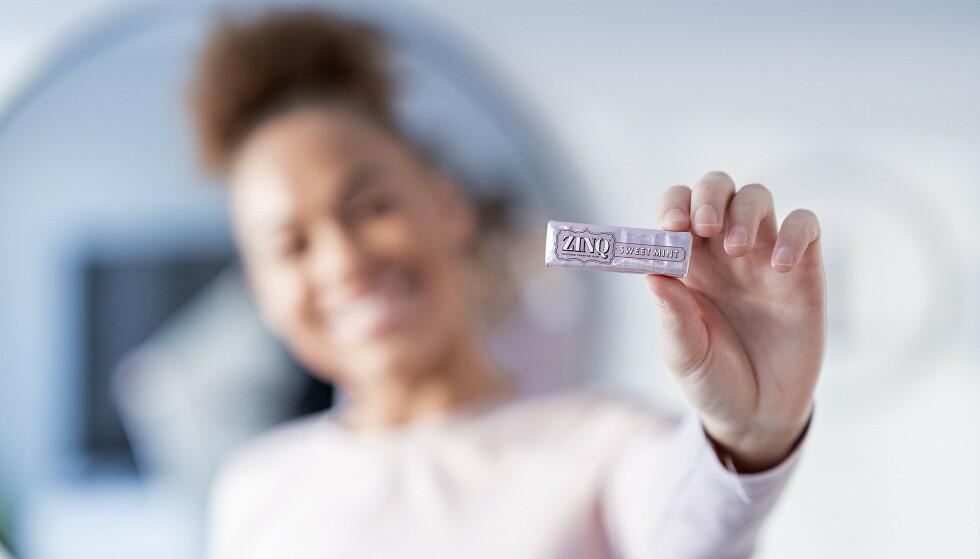 Rask effekt: ZINQ fjerner smaken av mat etter kun få tygg, og erstatter dårlig ånde med frisk mint.