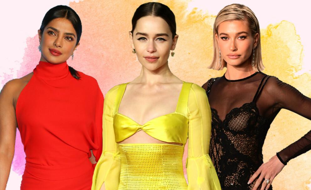 STJERNENES FAVORITTER: Disse tre kjendisene sitter på noen gode skjønnhetstips. Alt bra en billig leppepomade til ansiktsmaskene som gjør susen. Foto: NTB