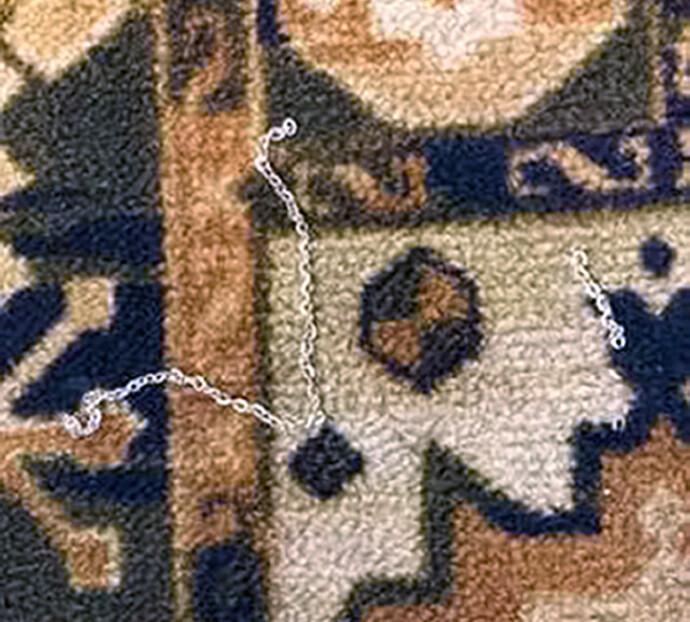 ANTE URÅD: Lucys foreldre mistenkte at noe var galt da de fant smykkerester på teppet i trappavsatsen. FOTO: Rex/NTB.