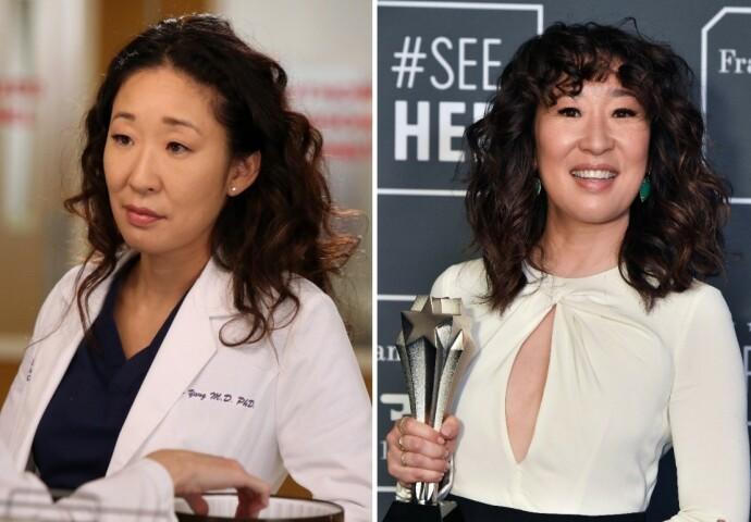 FØR OG NÅ: Sandra Oh i 2005 til venstre og i 2020 til høyre. FOTO: NTB