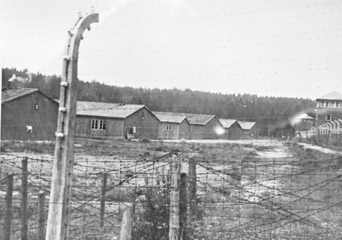 GRINI: Fangeleiren Grini i Bærum utenfor Oslo, hvor politiske fanger ble internert - mange av dem kvinner. FOTO: NTB arkiv