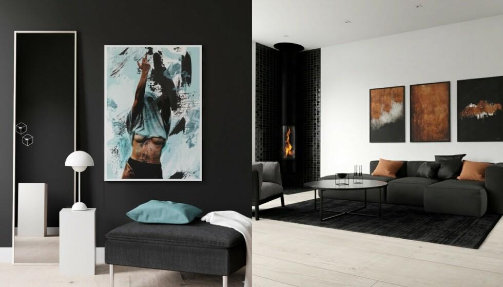 Sofistikert: Akrylkunst er både vakkert og sofistikert. Nydelig over sofaen i stua, men også på et gjesterom eller inngangsparti.