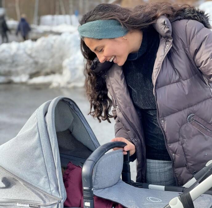 OPPRETTET EGEN BARSELGRUPPE: Da Awin ble sittende ensom uten tilbud etter fødselen, tok hun eget initiativ. Nå håper hun å inspirere andre mødre til å danne egne digitale barselgrupper. FOTO: Privat