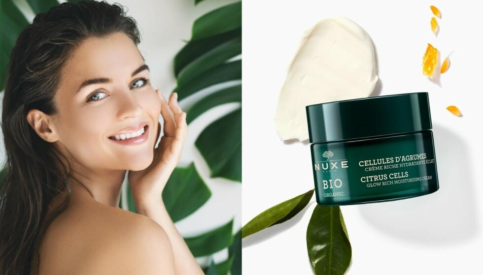 Krem: Dagkrem med citrusceller passer for normal til tørr hud. Kremen kan brukes både morgen og kveld. - Om du har tørr hud, og trenger mer næring, tar du noen dråper risoljeekstrakt i kremen, sier Hilde Evine Prestegård.