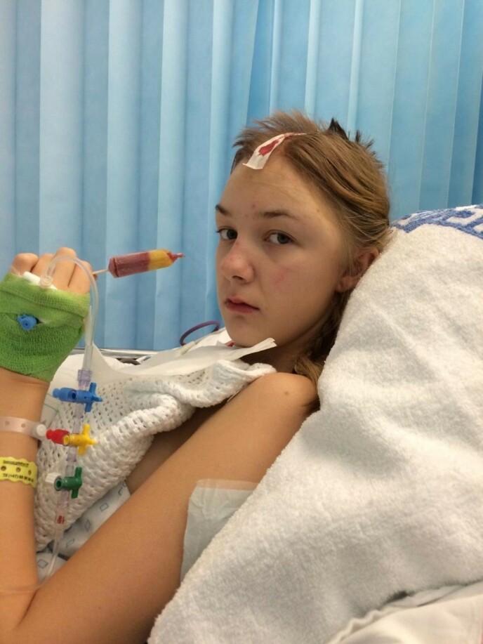 UNG: Ida var bare tenåring da hjerneslaget rammet henne. FOTO: Privat