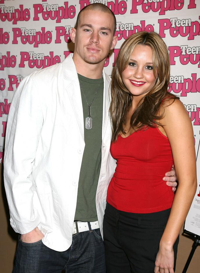 STJERNEDUO: Channing Tatum og Amanda Bynes under én av mange premierevisninger av «She's the man» i 2006. FOTO: NTB