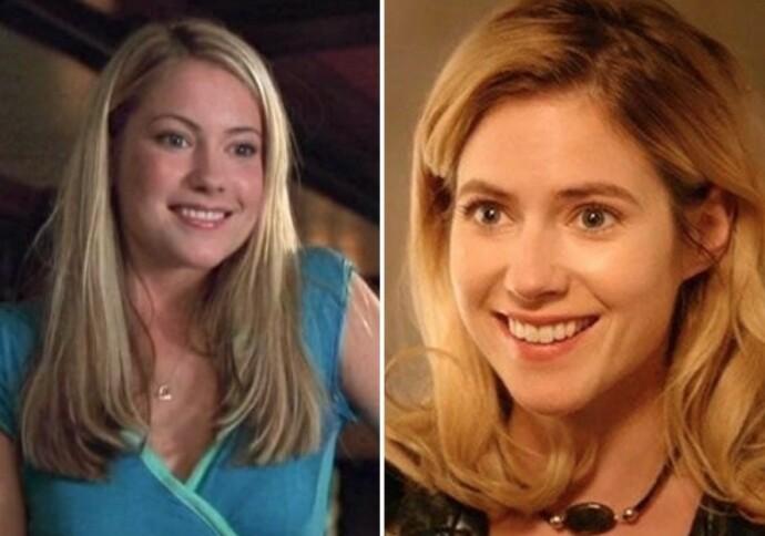 DA OG NÅ: Laura Ramsey som Olivia Lennox i «She's the man» i 2006 til venstre og i TV-serien «Hindsight» i 2015 til høyre. FOTO: NTB