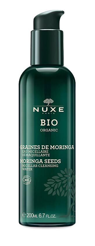 Micellar rens med olje fra moringafrø. Passer alle hudtyper, inkludert sensitiv hud.