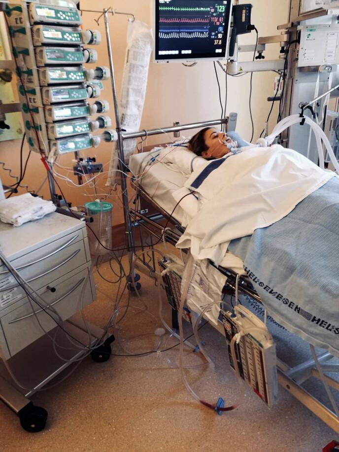 NEDTUR: - Den største nedturen var da legene måtte åpne brystkassen min på nytt etter en måned. FOTO: Privat