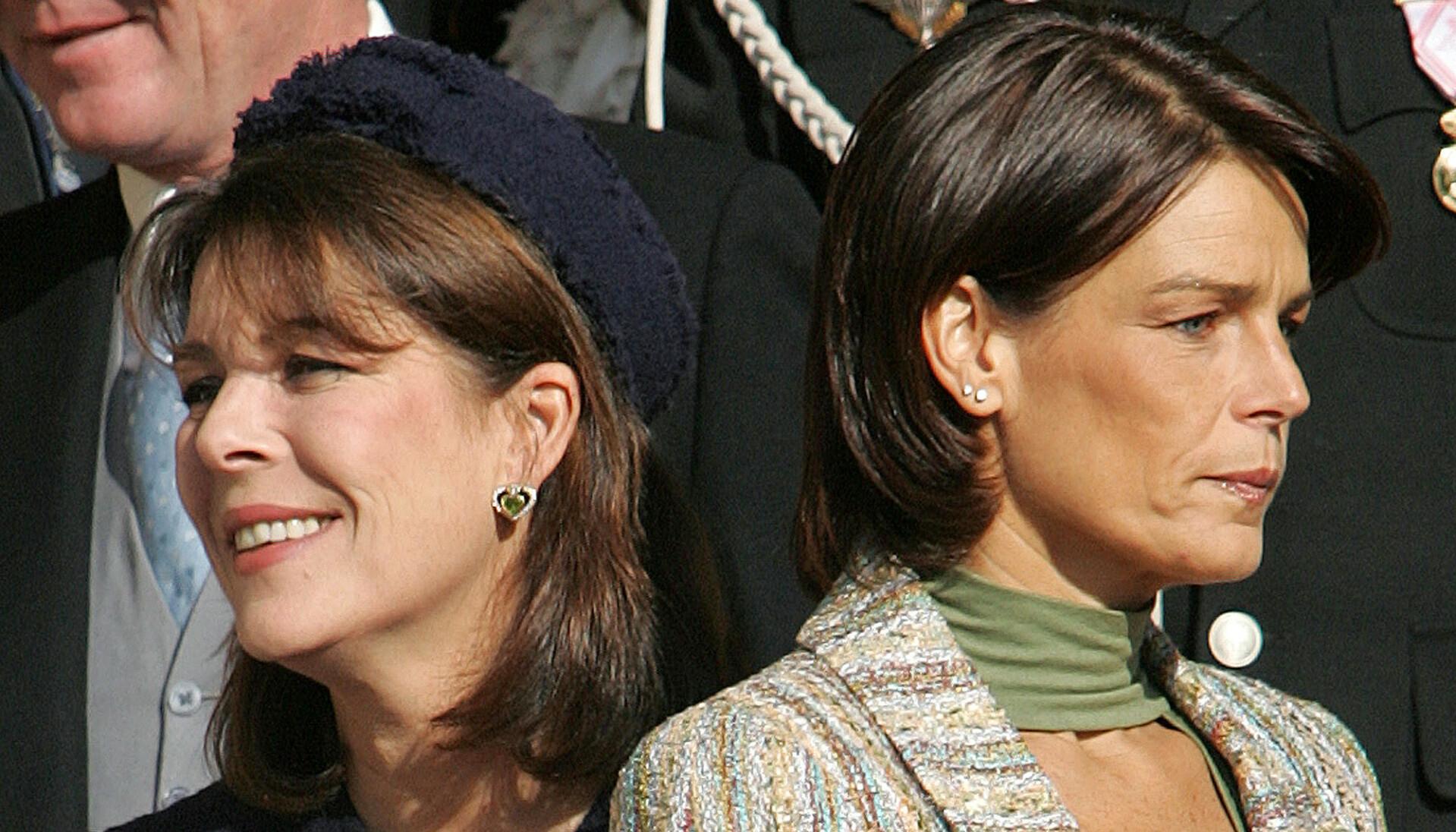 TETTE BÅND: Prinsesse Stephanie har betrodd seg til søsteren prinsesse Caroline. De vonde ryktene har Stephanie måttet leve med i mange år. Foto: NTB.