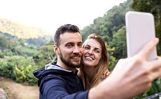 - Lykkelige par legger ut flere bilder av hverandre