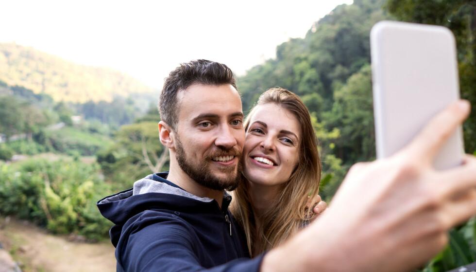 SOSIALE MEDIER: Måten du og kjæresten din bruker Instagram på kan faktisk si noe om hvor lykkeligere dere er sammen. FOTO: NTB