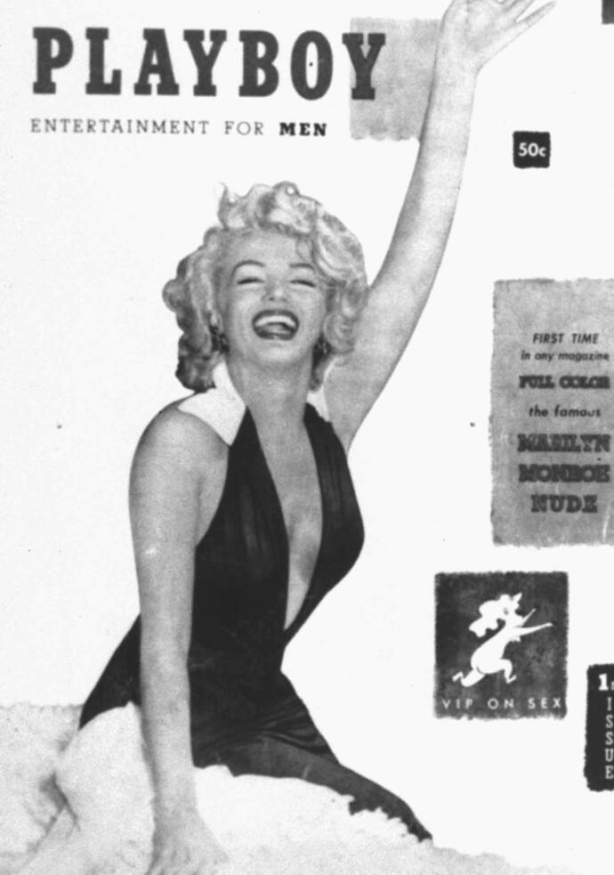 MOTVILLIG NAKEN: Marilyn Monroe forsøkte å stanse at nakenbildene av henne ble trykket i Playboy. FOTO: NTB