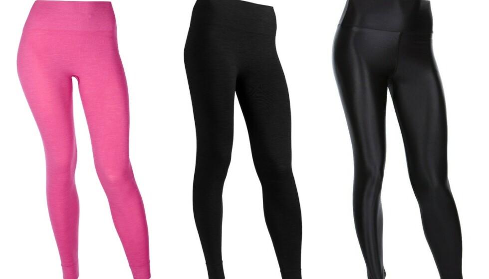 Velg din tights: Run & Relax har et bredt utvalg av sømløse tights i ulike mønstre, overflater og farger. - Men alle trenger en Bandha-tights, sier jentene hos Run & Relax.
