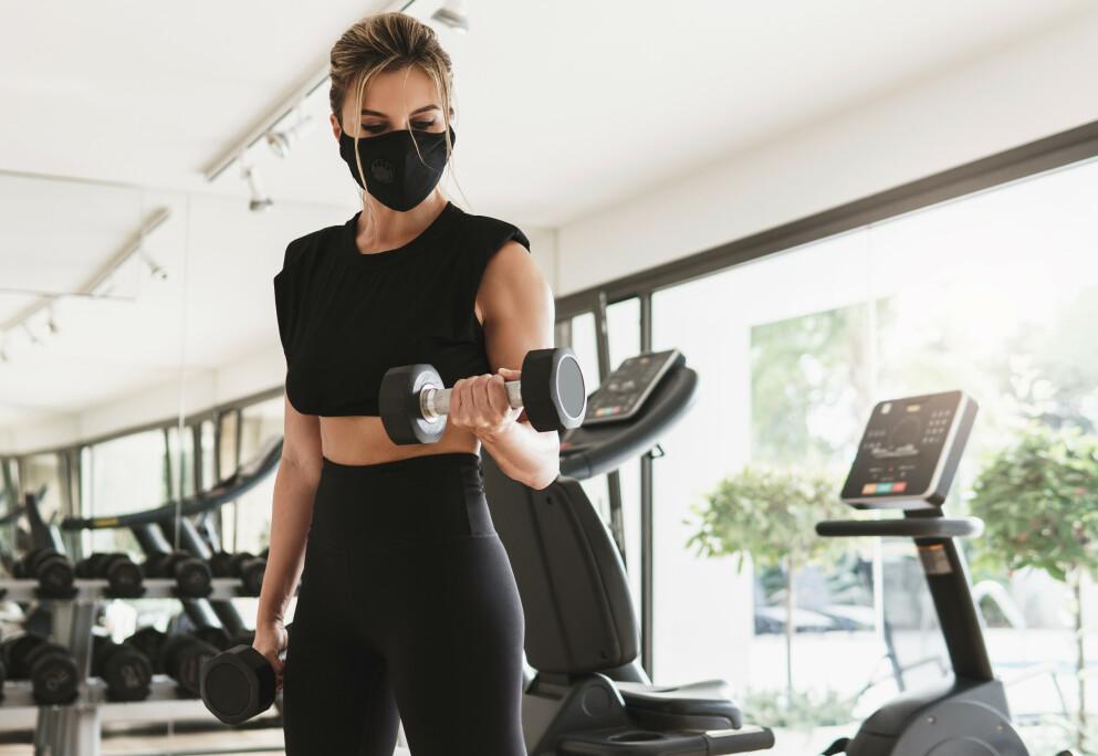 TRENINGSSENTER KORONA: Flere sentre åpner for trening, men i områder med stort smittetrykk er det fremdeles lukket - med unntak av de som trenger trening som et ledd i medisinsk rehabilitering. FOTO: NTB