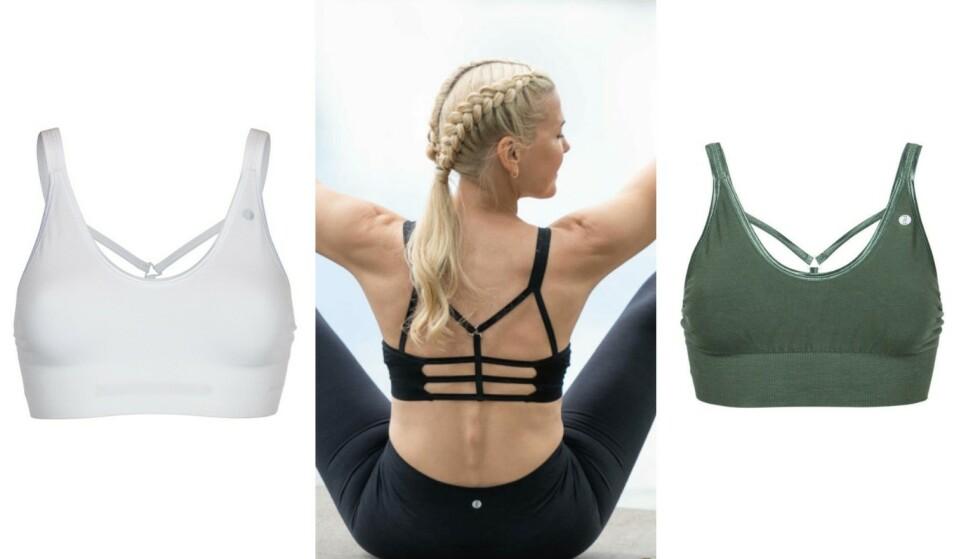 God støtte: Velg mellom mange ulike typer bh-er som gir god støtte til både yoga, løping og annen trening. Leyla Yoga Bra fås i fem klassiske farger. Den er også nydelig under en dressjakke, bluse eller lekker kjole med utringning bak.
