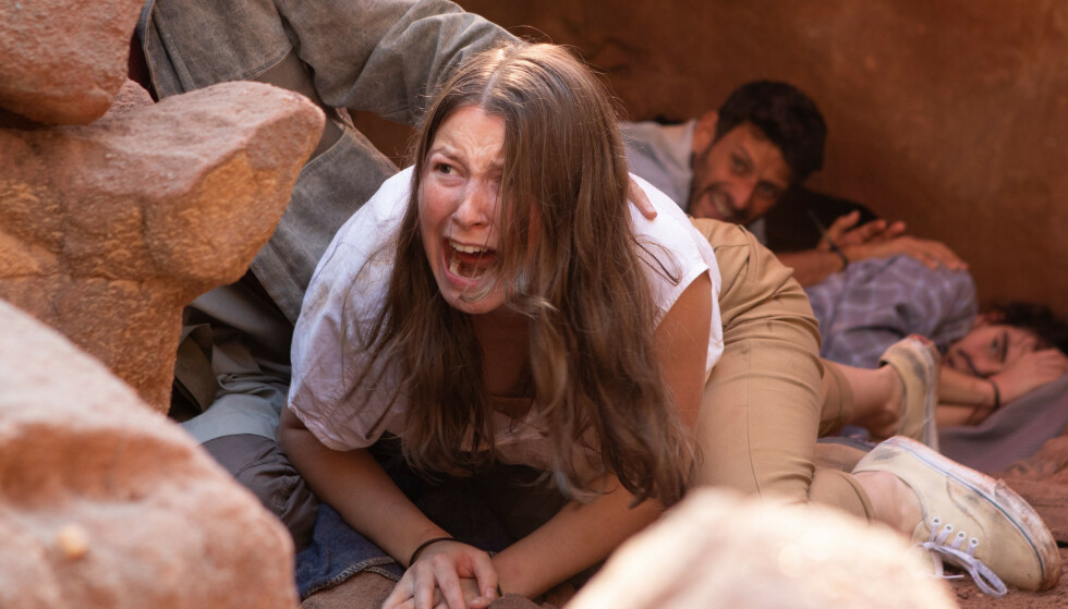 BRUTALT: Flere av scenene i Bortført er svært brutale og Andrea sier til KK at hun har gjort svært grundig forarbeid i forkant av innspilling. FOTO: TV 2