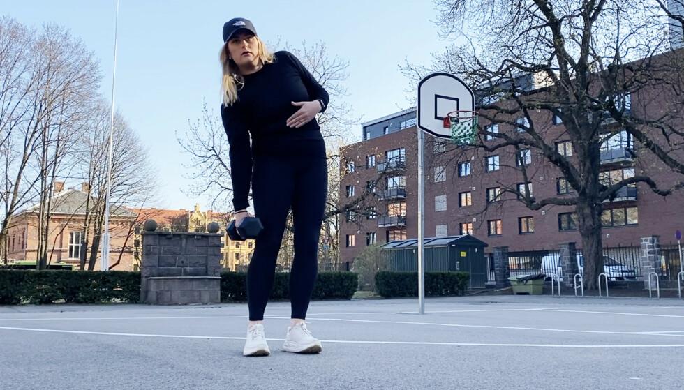TRENE MAGE: Mange ønsker en sterkere mage, men hvilke øvelser er egentlig best? Vi viser deg fem gode øvelser! FOTO: Mina Knudsen
