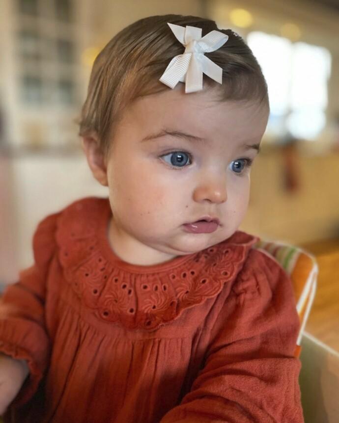 PRAKTBABY: Charlotte var overbevist om at noe måtte være galt med datteren. FOTO: Privat