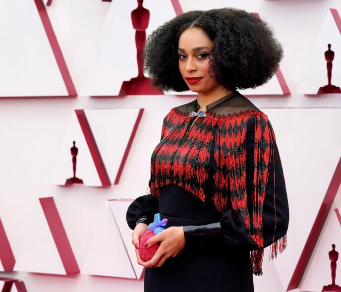 CELESTE WAITE: Den Oscar-nominerte sangeren strålte i dette Gucci-antrekket. Foto: NTB