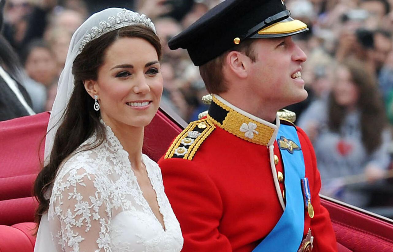 JUBILEUM: Hertuginne Kate og prins William tok verden med storm for ti år siden. Se så vakker bruden er! Foto: NTB.
