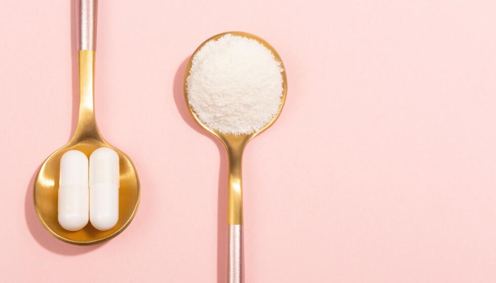 B-VITAMINER: B-vitaminer er viktige for hår, hud og negler, men vil det hjelpe å ta tilskudd av det? FOTO: NTB