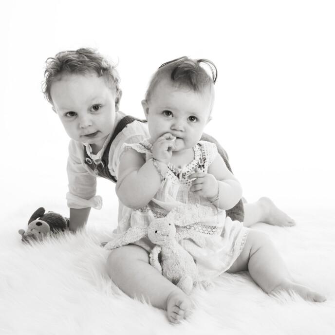 To nydelige barn hadde hun fått. Artikkelforfatteren visste at hun burde være takknemlig, og skammet seg over depresjonen hun følte på. FOTO: Hanne Solheim