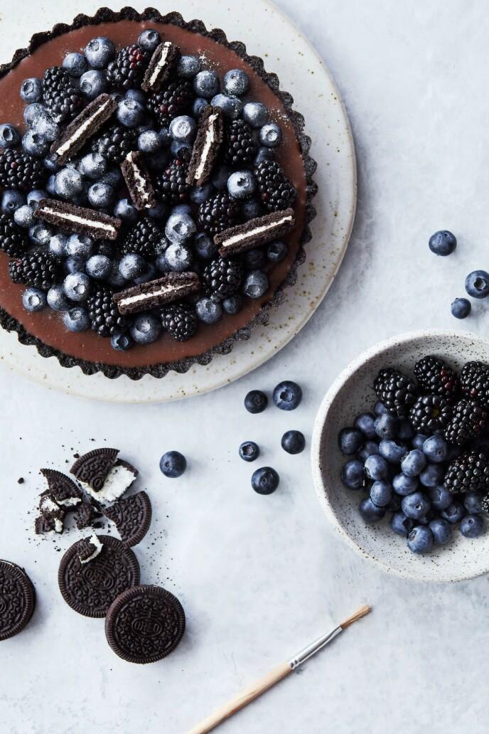 Den sprø kjeksbunnen og blank ganache er et tydelig bevis på at du kan å lage kaker. FOTO: Stine Christiansen