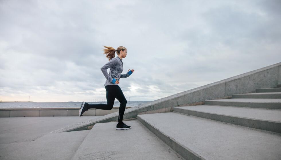 TRAPPELØP: Trappeløp er tilgjengelig, det er effektivt og passer for alle uansett form og alder. FOTO: NTB