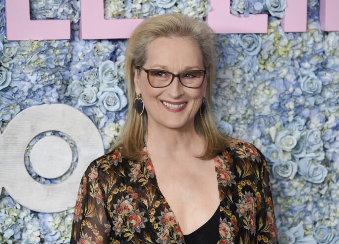 NATURLIG LOOK: Selveste Meryl Streep er kjent for å omfavne sine grå hår - og hun ser alltid ut som en million dollar. Foto: NTB