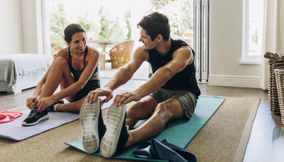 STYRKETRENING: Å trene styrke krever verken treningsapparater eller personlig trener. FOTO: NTB
