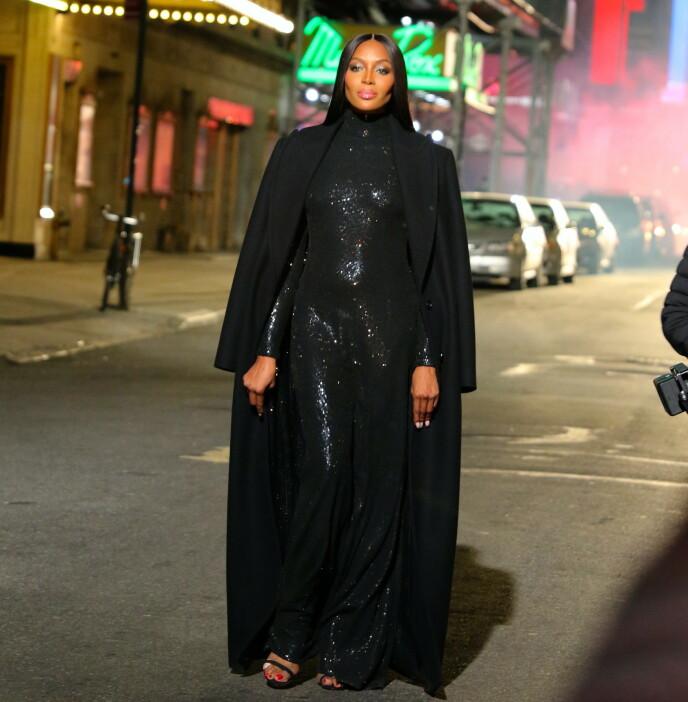 "CATWALK: Sist gang Naomi Campbell ble avfotografert i offentligheten var under ""Michael Kors Fashion Show"" i New York i april 2021. FOTO: NTB"