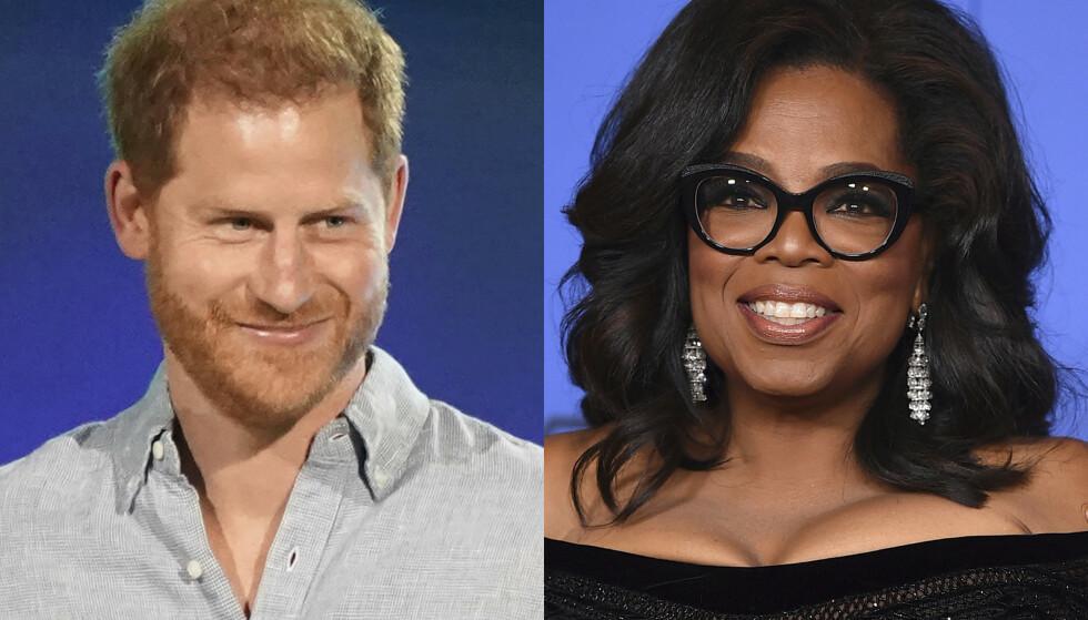 SAMARBEID: Prins Harry og Oprah Winfrey står sammen bak den nye dokumentarserien 'The me you can't se' på Apple TV+. FOTO: NTB