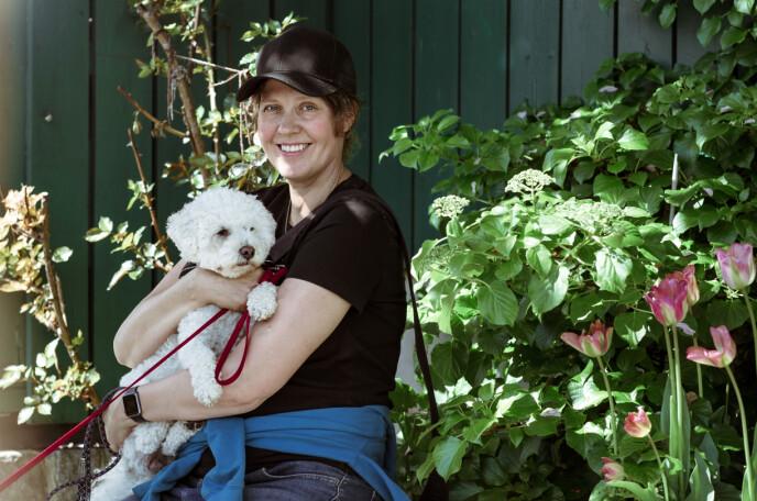 EN LITEN HUNDEBARNEHAGE: Åsne har plass til maks fem hunder per dag. Foto: Astrid Waller