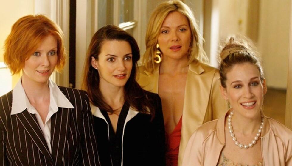 GJØR COMEBACK: Tre av de fire venninnene fra «Sex og singelliv» er med videre i den nye serien. FOTO: Sex og singelliv