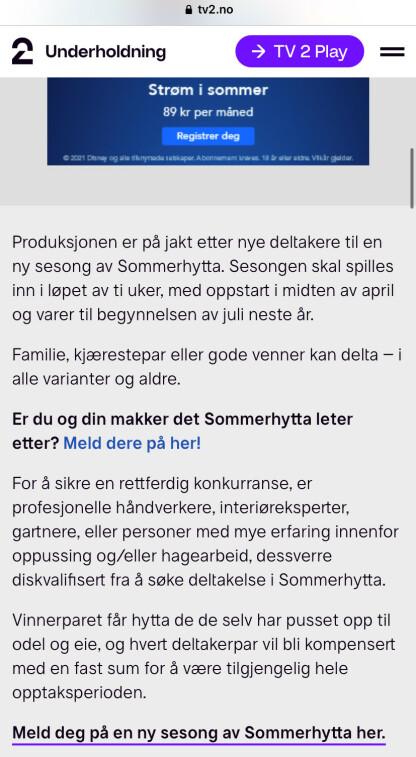 FOTO: Skjermdump TV2