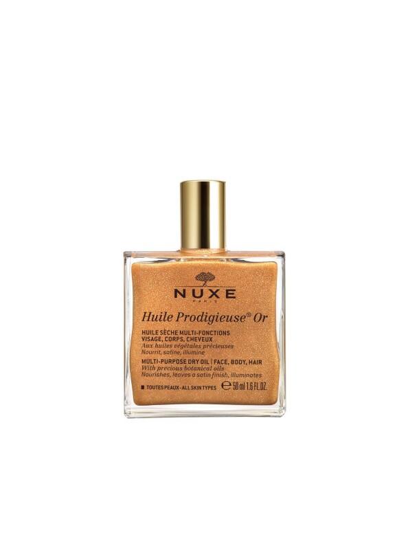 Tørroljen fra Nuxe kommer både med og uten shimmer. NUXE Huile Prodigieuse Dry Oil Shimmer 50ml kr 299