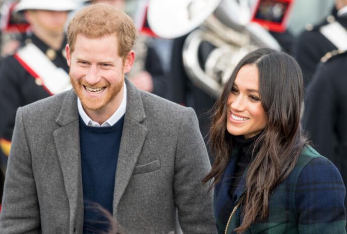 I LYKKERUS: Etter et tøft år er prins Harry og hertuginne Meghan endelig blitt tobarnsforeldre. Fredag 4. juni ble datteren født. Dette er fra en annen anledning. FOTO: NTB