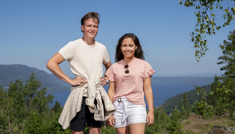SOMMERHYTTA: Bestekompisene Christine Kirkhorn og Adrian Middelthon har denne våren vært å se i det populære programmet Sommerhytta på TV2. FOTO: Espen Solli // TV2